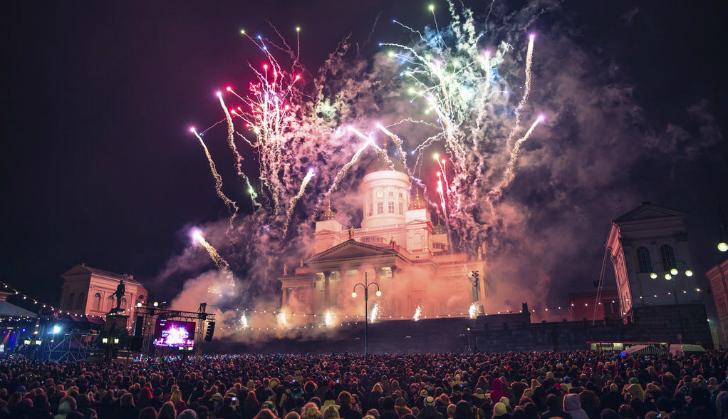 参议院广场新年庆祝