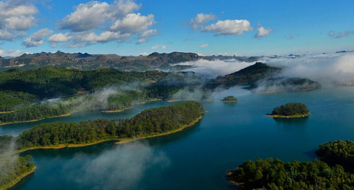 摆龙湖旅游图片