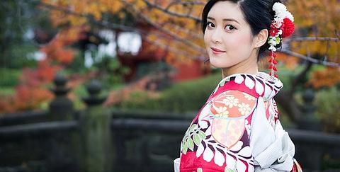 日本东京浅草寺八重和服