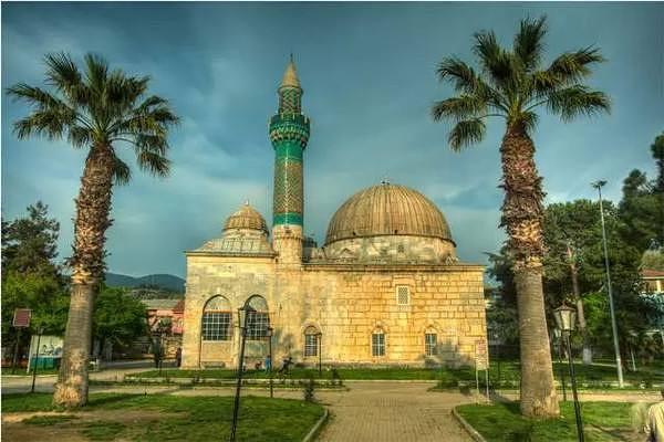 绿色清真寺旅游图片