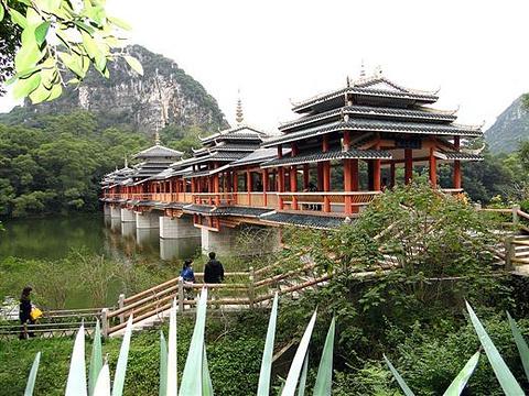 龙潭公园风雨桥旅游景点图片