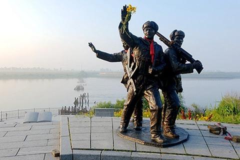 鸭绿江浮桥遗址
