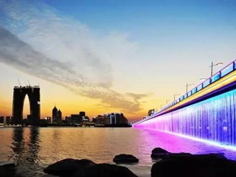 金鸡湖大桥旅游景点图片