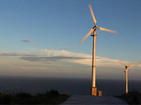 风力发电大风车