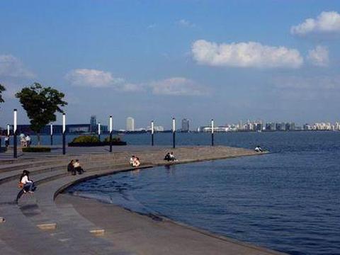 金鸡湖滨湖大道旅游景点图片