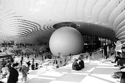 天津滨海图书馆的图片