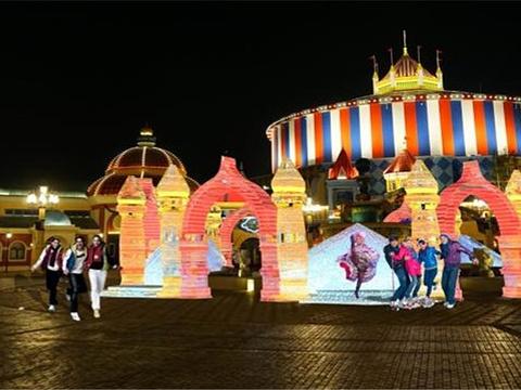 哈尔滨万达冰灯大世界旅游景点图片