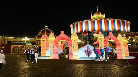 哈尔滨万达冰灯大世界的图片