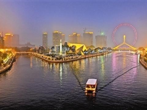 海河外滩公园游船旅游景点图片