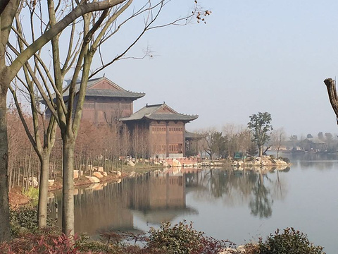 颍上县江心洲滨河公园旅游景点图片