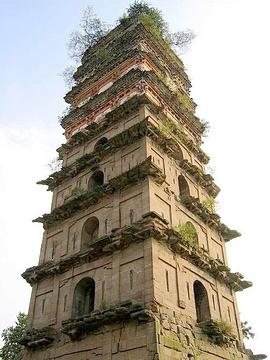 广安白塔的图片