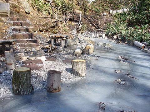 大汤沼川 天然足汤的图片