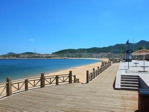 海滨木栈道旅游景点图片