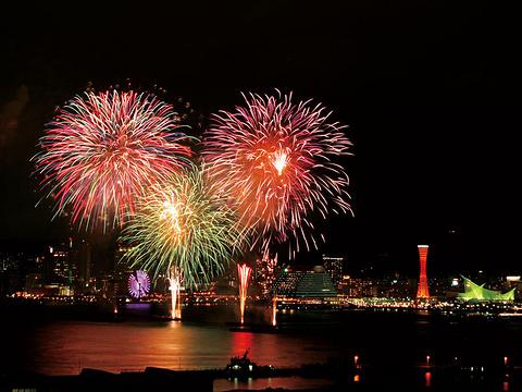 神户港海上花火大会旅游景点图片