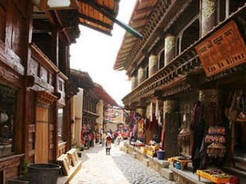 独克宗古城旅游景点图片
