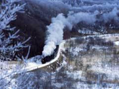 SL冬之湿原号蒸汽火车的图片