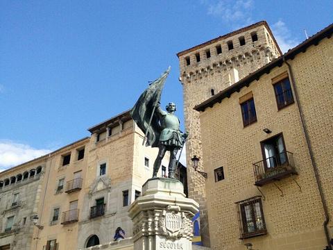 塞哥维亚圣马丁广场旅游景点图片