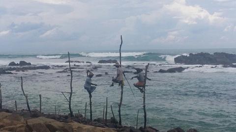 高跷渔夫的图片