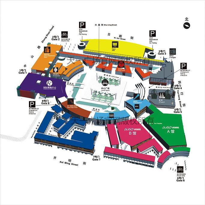 天一广场旅游导图