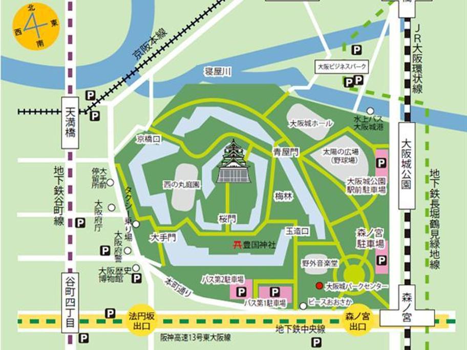 大阪城天守阁旅游导图