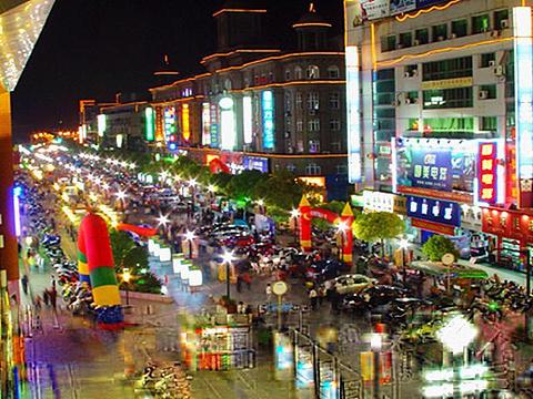 华庭街购物商圈旅游景点图片