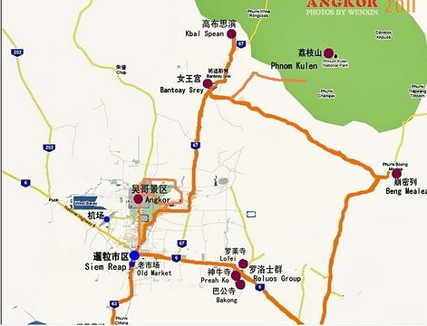 吴哥窟旅游景点攻略图