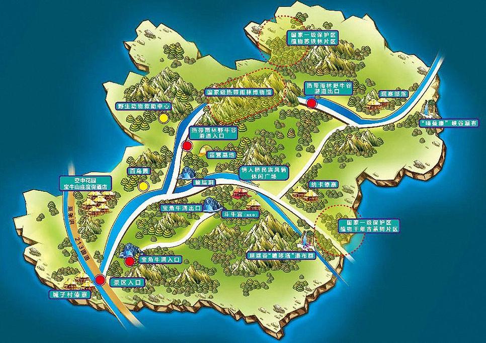 勐远仙境旅游导图