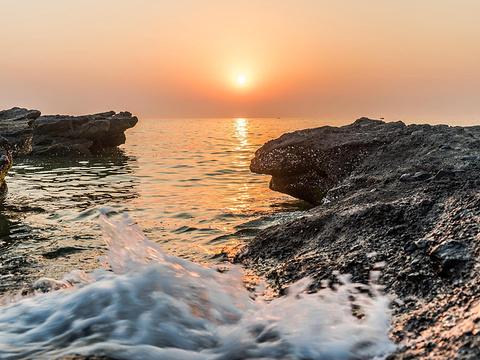 石螺口海滩旅游景点图片