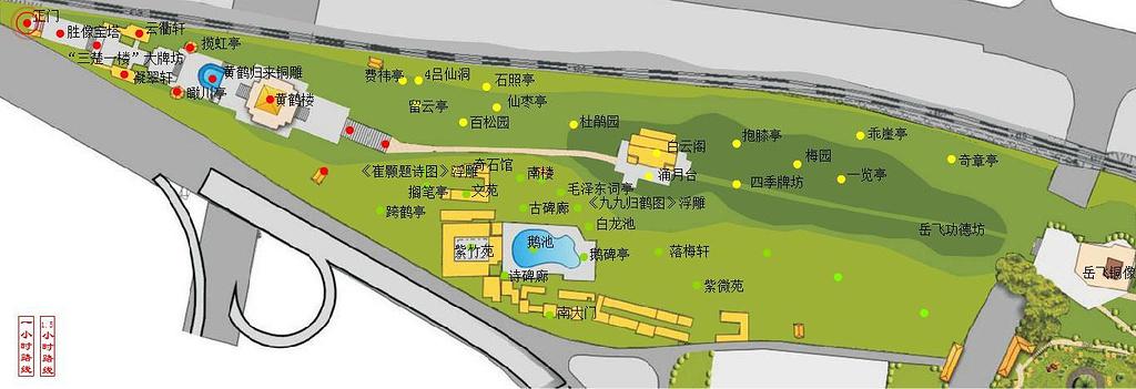 黄鹤楼旅游导图