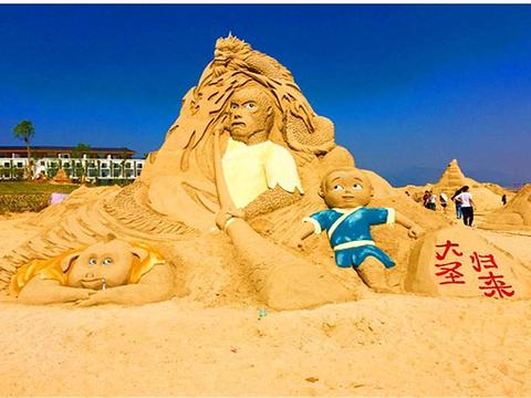 沙滩沙雕主题乐园旅游景点图片