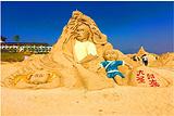 沙滩沙雕主题乐园
