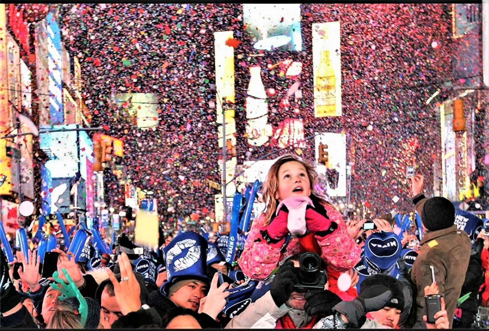 新年前夜时代广场落球