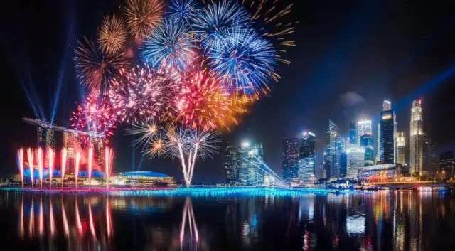 新加坡滨海湾跨年倒数活动