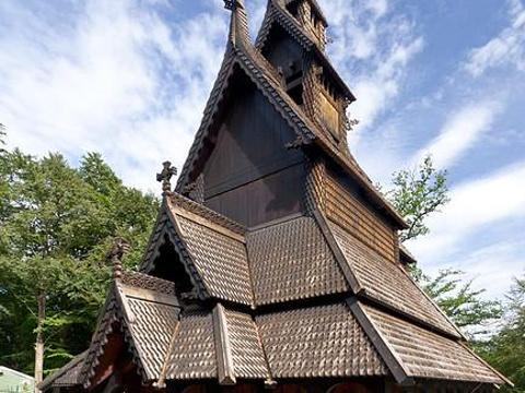 凡托特木板教堂旅游景点图片