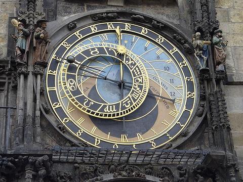 布拉格天文钟旅游景点图片