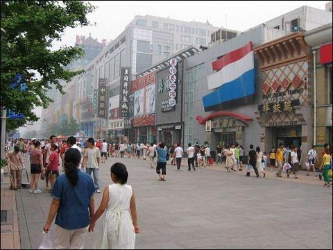 王府井步行街旅游景点图片