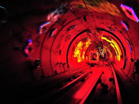 外滩观光隧道旅游景点图片