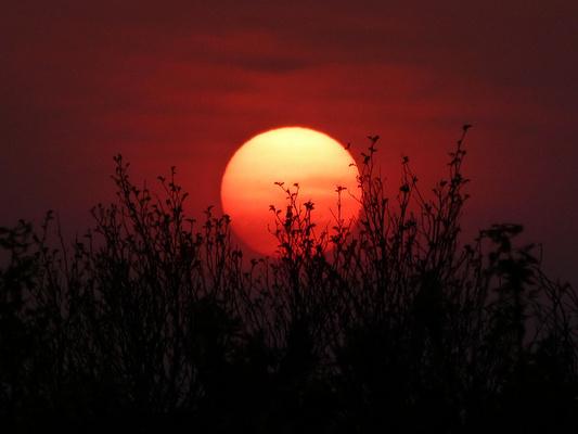 镜泊湖日落旅游图片