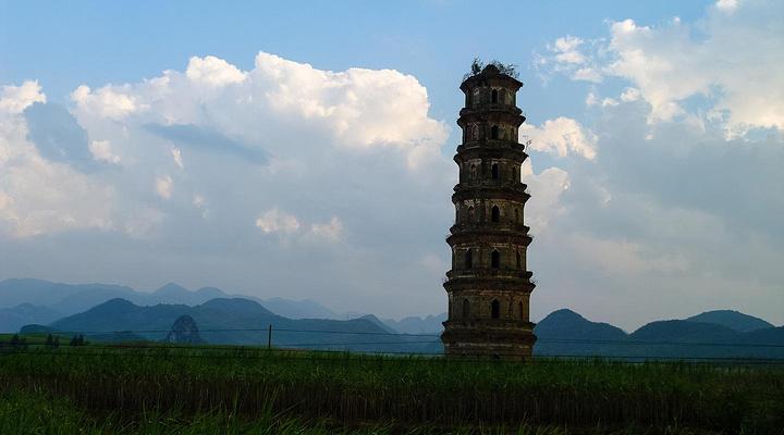 来宾文辉塔旅游图片