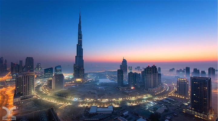迪拜塔旅游图片