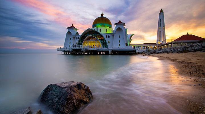 马六甲海峡清真寺旅游图片