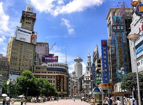 南京路步行街旅游景点图片