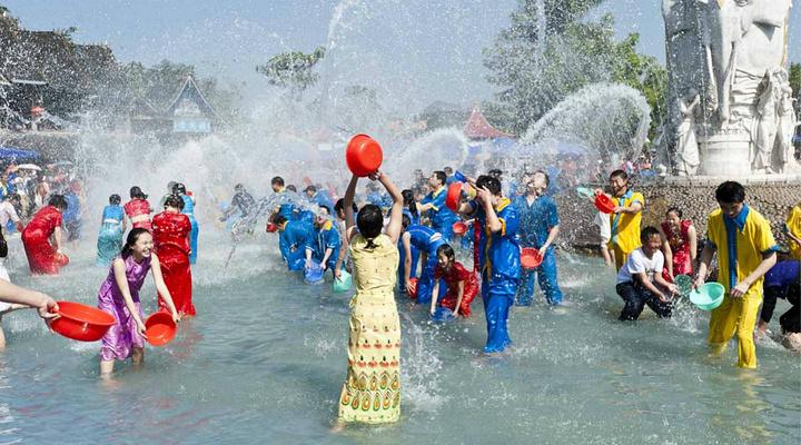 泼水节旅游图片