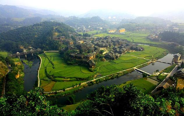 程阳侗族八寨旅游图片