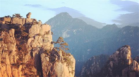 石猴独踞山峰顶