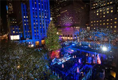 洛克菲勒中心圣诞树亮灯仪式Rockefeller Center Tree Lighting