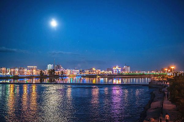 海拉尔夜景旅游图片