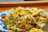 鸡蛋小粉煎银鱼