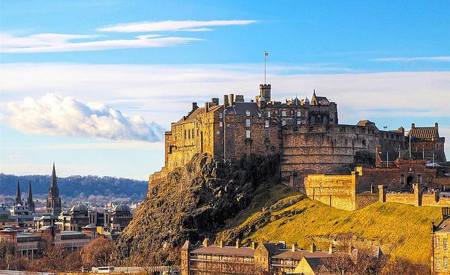 爱丁堡城堡旅游图片