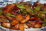 排骨炖油豆角